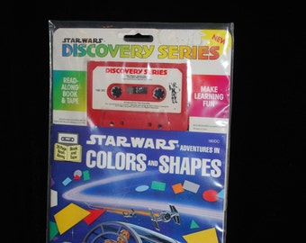 Vintage Star Wars Colors and Shapes Book with Cassette 1984 Sealed