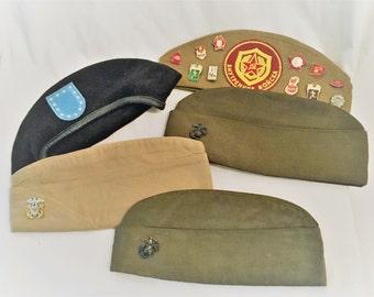 ON SALE!!!    Bundle of 5 Vintage Military Caps
