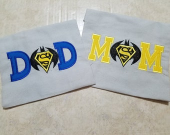 Sale !! Bat parents/batman shirt/couples shirt/superhero shirt
