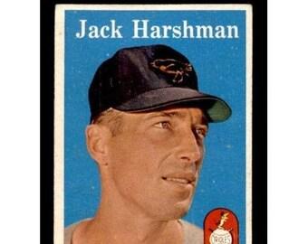 Vintage 1958 Topps #217 Jack Harshman Gd-Vg