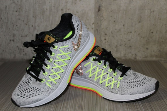 reputable site 6f38b 8fc9c Bling Women s Nike Air Zoom Pegasus 32 Yellow by DiamondsOnMyFeet 60%OFF