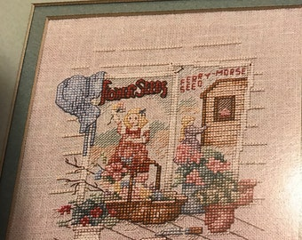 Leisure Arts Yesterday's Garden by Paula Vaughan counted cross stitch leaflet 552