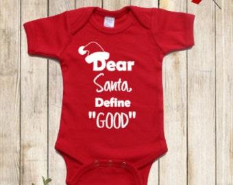 Dear Santa Christmas Onesie