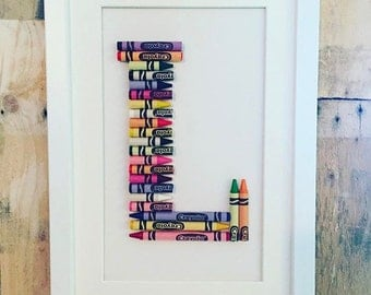Crayon Letter Art - Any Letter!