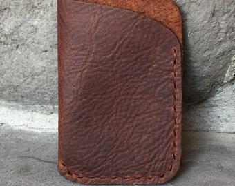 Kodiak Oil Tanned Leather Card Case Wallet