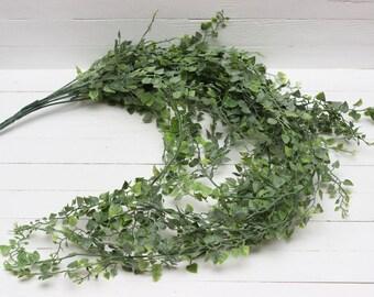 Artificial plastic vine Artificial stem Green filler Plastic leaves Artificial leaves Artificial bouquets Faux floral