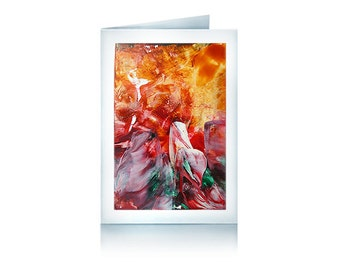 Greeting card red Galaxy
