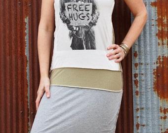 Upcycled Chewbacca Star Wars T-dress. Size M