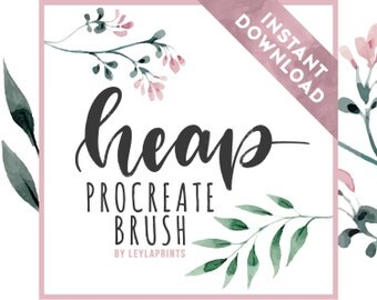 Procreate Custom Brush for Lettering | HEAP | iPad Lettering | Calligraphy Brush for Hand Lettering | INSTANT DOWNLOAD