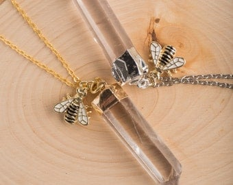 Quartz and Honey Necklace