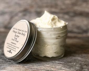 Whipped Body Butter, Organic Body Butter, Mango Shea Body Butter