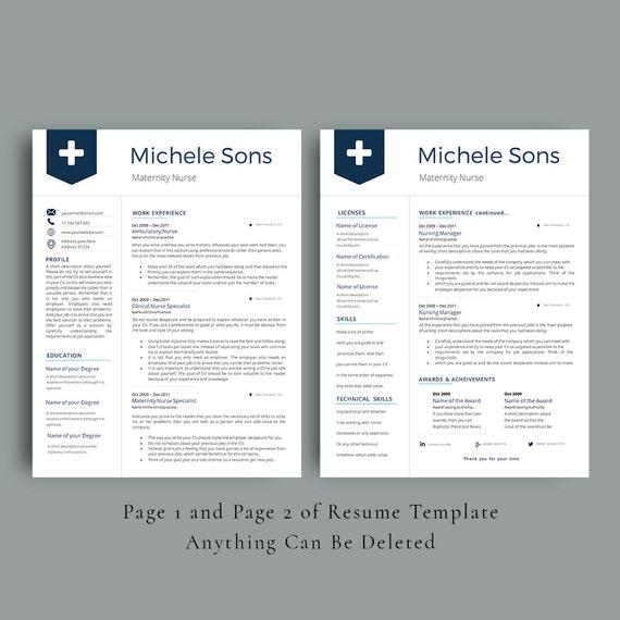 professional nurse resume template multipurpose cv template