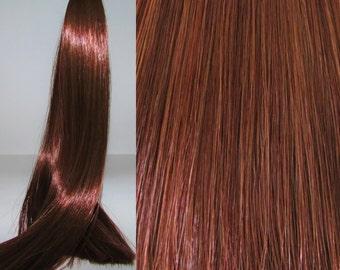 AUBURN BROWN Saran Doll Hair for Custom OOAK/Rerooting