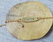 Breathe bracelet in gold