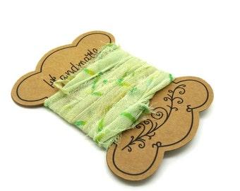 "Your ""SI0200"" pastel green sari Silk Ribbon"