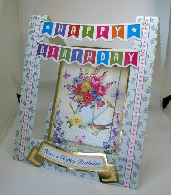 3D Female Birthday Handmade Stepper Card - luxury personalised unique quality special bespoke UK - Mum/Grandma/Daughter/Aunt/Niece/Sister