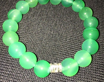 10mm Green Aventurine Gemstone Bracelet, Womens Bracelet