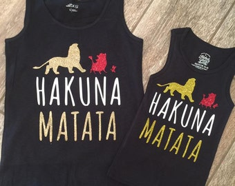 Mommy and me Hakuna Matata tanks