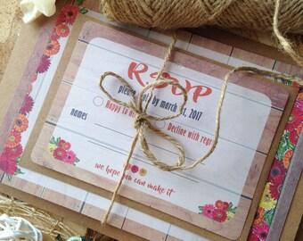 Autumn wedding invitation, rustic style, Fall wedding invitations, wood, barn wedding