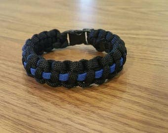 Paracord Bracelet, Cobra with Line (more colors)