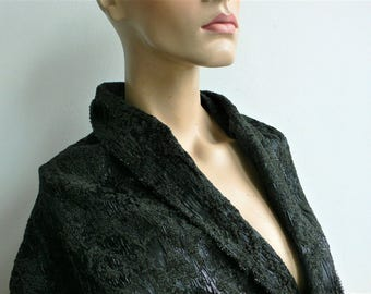 Couture dress fabric ornate Gothic dramatic fabric // by the yard// coat or jacket fabric luxury fabric