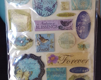 """E34 - K & Company - Susan Winget """"Clearly Yours"""" Epoxy Stickers - 20 pc"""