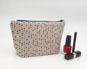 Cosmetic Bag - Handmade Travel Pouch, Make Up Bag, Travel Gift, Gift for Her, Christmas Gift, Loaded Bobbins