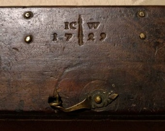 18th Century Scales in Wooden Box   264