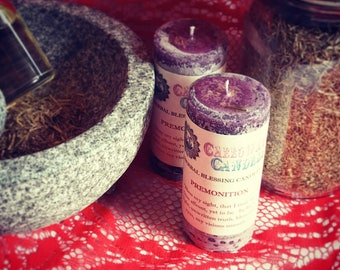 Premonition Candles, Herbal Blessing Candles, 5 Sizes, Scented Candles