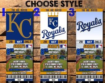 Kansas City Royals Birthday Ticket Invitation