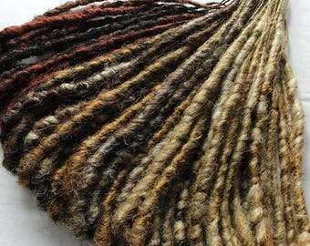 READY to ship. 40 de WRAPPED dreads NATURAL shades.