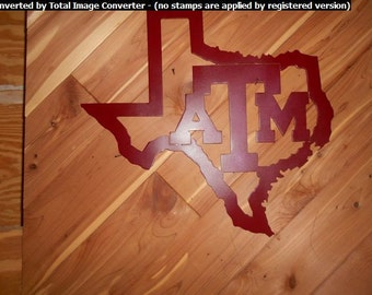 Shape of Texas with Texas A&M