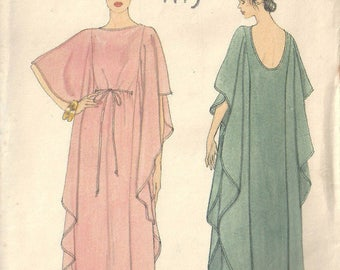 "1979 Vintage VOGUE Sewing Pattern B34""-36"" CAFTAN Loose Fitting Medium (1800) Vogue 7251"