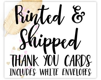 Printed Matching Thank You Cards