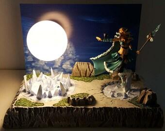 NEW! diorama maiden DOTA 2 crystal lamp