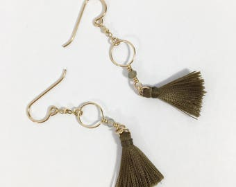 Hoop Fringe Tassel Earrings
