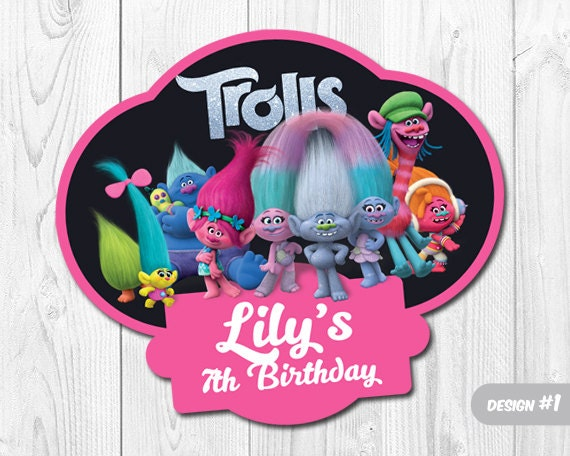 Trolls Birthday Party Printable Centerpieces