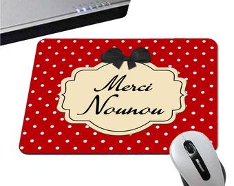Mousepad thanks nanny - 3 colors black / pink / red - childminder