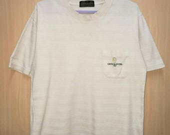 Rare!! Vintage Gianni Valentino Spellout Embroidery T-shirt