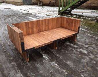 Rustic Sofa, Sofa, Reclaimed Wood Sofa, Диван, Диван В Стиле Рустик