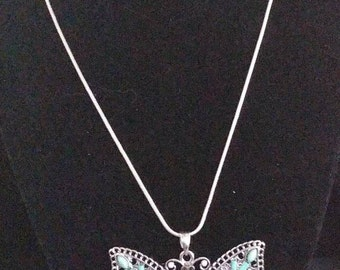 Handmade butterfly pendant necklace