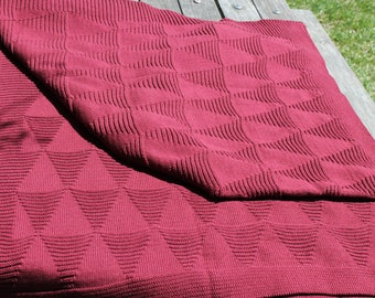 cable knit blanket throw triangle knit throw acrylic yarn throw cotton throw - Cable Knit Throw