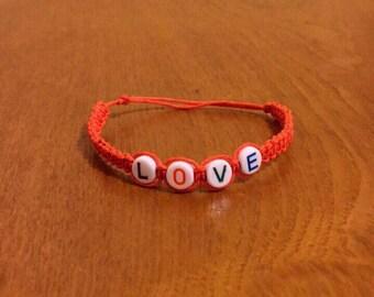 Colorful beaded Orange bracelet