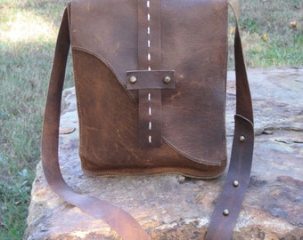 Messenger Ipad leather bag