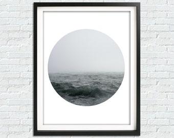 Minimalist Poster, Digital Art, Ocean Photo, Minimalist Photo, Abstract Photo, Beach Photo, Downloadable Artwork, Ocean Decor, Modern Art