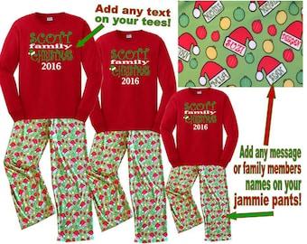 christmas pajama set – Etsy