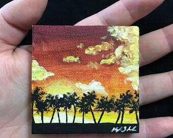 Tropical Sunset Miniature Landscape