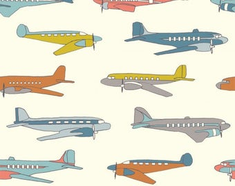 Planes Multi, Trans-Pacific Collection, Jay-Cyn Designs, Birch Fabrics, Organic Quilting Cotton