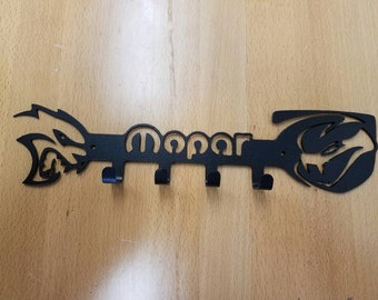 Viper Hellcat Mopar logo Key Fob holder metal art plasma cut decor