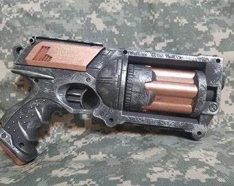 Steampunk Inspired Custom Painted Nerf Maverick Pistol